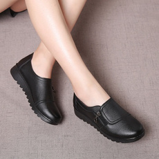 Flats, Genuine, leather, Shoes