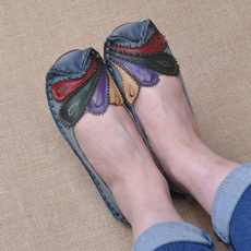 Summer, Genuine, Flats, Breathable