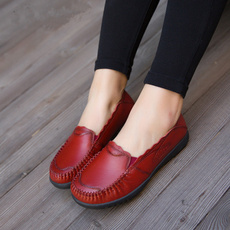 Flats, Woman, Genuine, moccasin