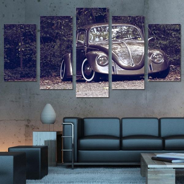 carpainting, Decor, 5piece, Wall Art