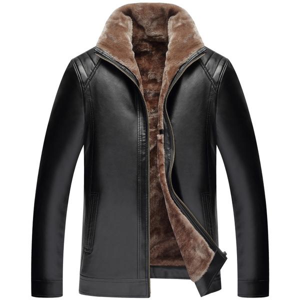Jacket, casualwearmen, fur, leather