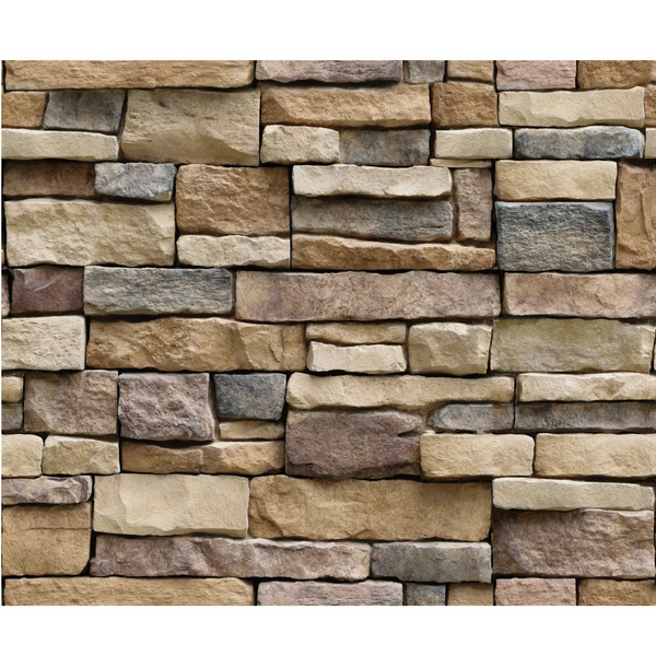 3D Wall Paper Brick Stone Rustic Effect Self-adhesive Wall Sticker Home HY