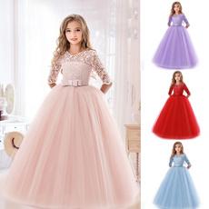 girls dress, Lace, Long Sleeve, Dress