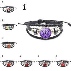Charm Bracelet, sharingan, japaneseanimeleatherbracelet, Bracelet