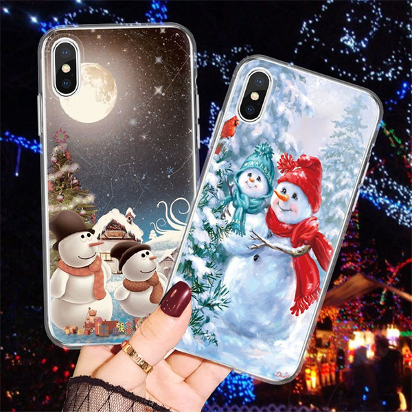 Galaxy s9 plus 8 XR 12 Pro max S10 iPhone 12 Xs MAX Snowman iPhone Note 8 X Christmas iPhone case 8 Plus iPhone 12 Pro Note 9