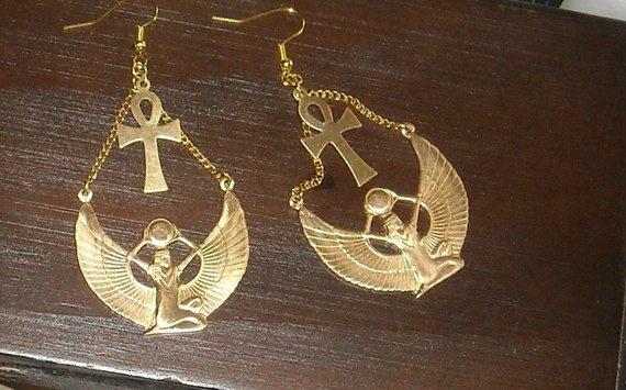 Brass, gothicearring, Dangle Earring, Jewelry