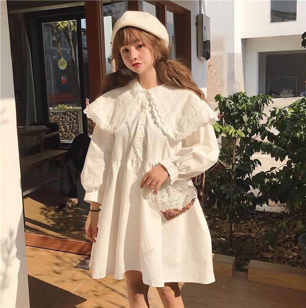 Fashion, Lace, Long Sleeve, Dress