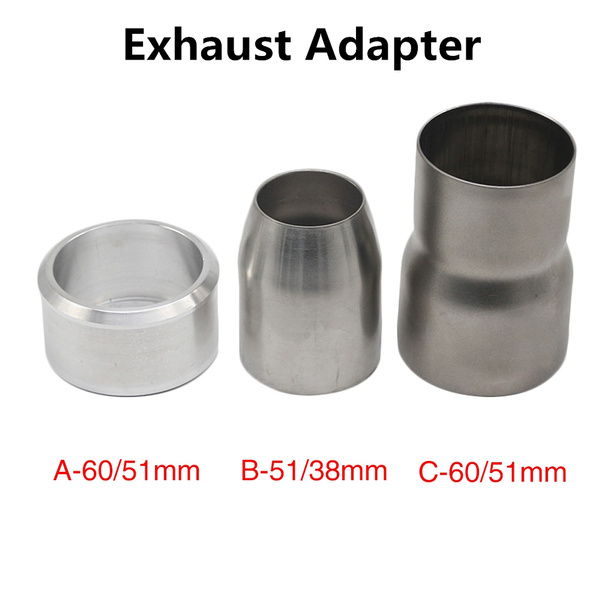 1pcs universal motorcycle exhaust escape moto 60mm exhaust pipe adapters connector slip on 38 51mm 60 51mm stainless steel wish