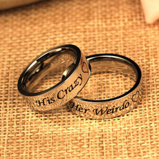 Couple Rings, Steel, Engagement, menssilverring
