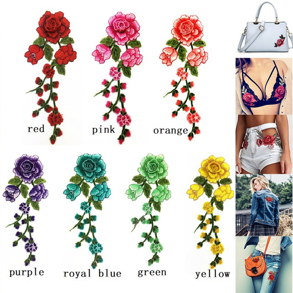 Fashion, Embroidery, floralpatche, Cloth