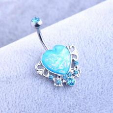 Fashion, Jewelry, Gifts, heartnavelring