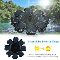 solarpanelfountain, Tank, Garden, fish