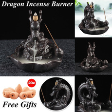 aromatherapydiffuser, art, Home Decor, dragonincenseburner