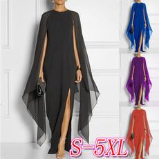 Sleeve, chiffon, chiffon dress, plus size dress
