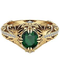 Turquoise, DIAMOND, wedding ring, gold