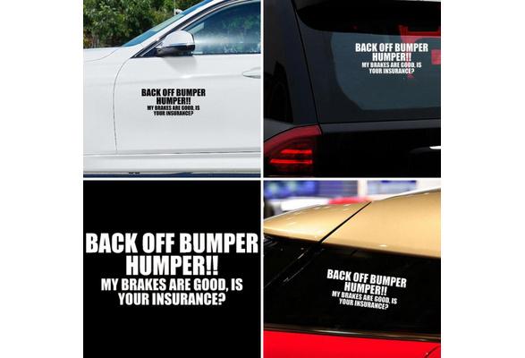 Back Off Bumper HUMPER Letters Car SUV Sticker Window Decorative Vinyl Decal Black