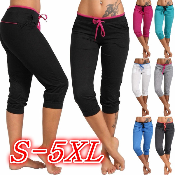 Women Pants, capripant, Leggings, elastic waist