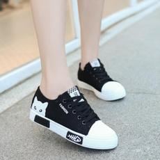 cute, Sneakers, vulcanize, Lace