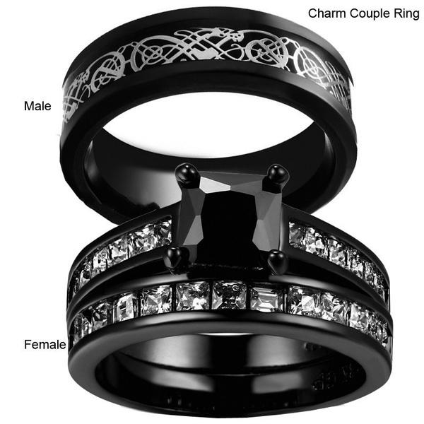 Steel, wedding ring, gold, Engagement Ring
