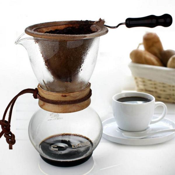 Coffee, coffeedrippotwithflannelfilterbag, Glass, Pot