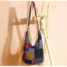 cottonbag, adjustablecrossbodybag, vintagecotton, hippie