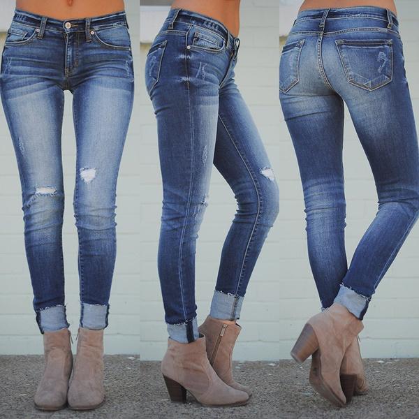 Plus Size, Long pants, pants, Denim