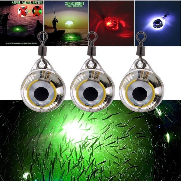 1pc LED-Licht Angeln Wasser Nacht leuchtende Fischen automatisch schwimmt E V0G3