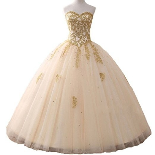 gowns, gold, Sweets, Dress