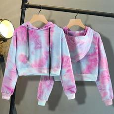 blouse, hooded, crop top, Hoodies