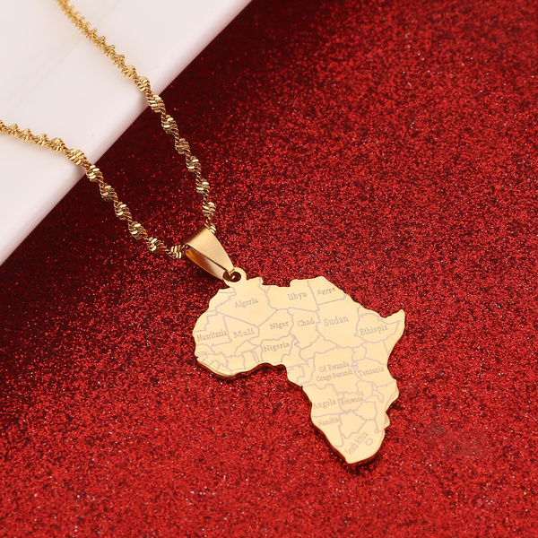 Steel, Stainless, hip hop jewelry, mapofafrica