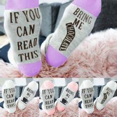ifyoucanreadthi, Cotton Socks, Cotton, letter print