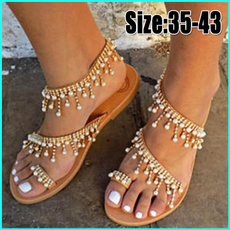 bohemia, Summer, Plus Size, Women Sandals