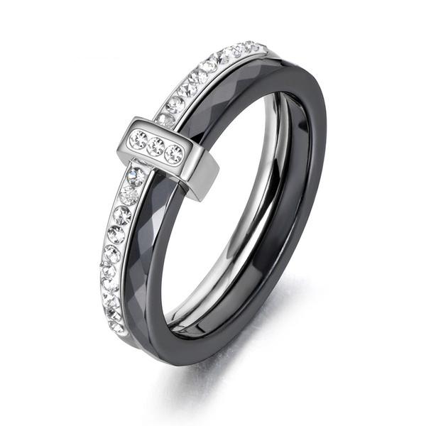 Cubic Zirconia, ceramicring, Engagement, wedding ring
