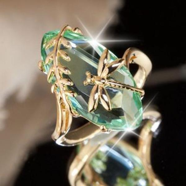 dragon fly, DIAMOND, wedding ring, gold