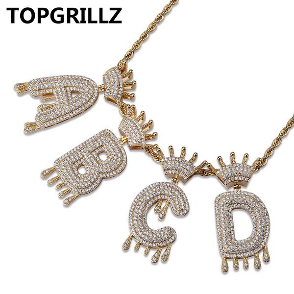 Cubic Zirconia, crown, necklaces for men, Jewelry