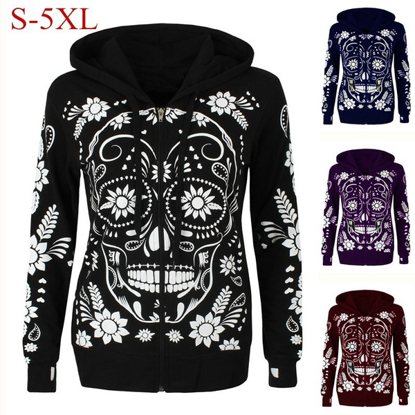 Fashion, coatsampjacket, skull, Long Sleeve