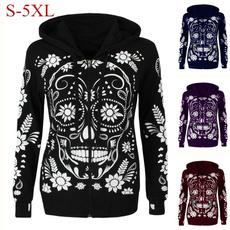 Мода, coatsampjacket, skull, Long Sleeve