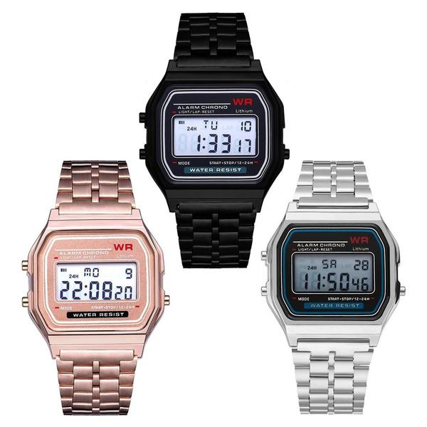 LED Watch, menwristwatche, Fashion, led
