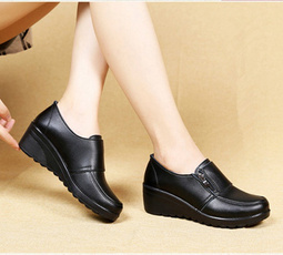 wedge, Woman, Genuine, Womens Shoes