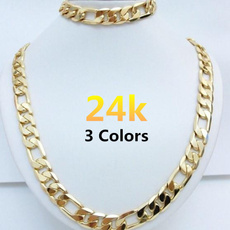 yellow gold, Hip-hop Style, Chain Necklace, Fashion