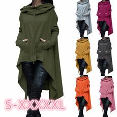 fashion women, hooded, ponchocoat, Irregular