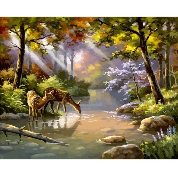 paintbynumber, art, Gifts, Deer