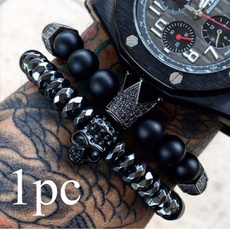 black bracelet, Beaded Bracelets, bangle bracelets, Skeleton
