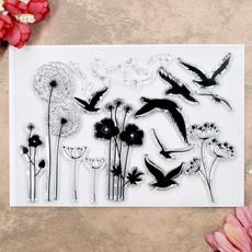 Card, Flowers, geese, scrapbookingamppapercraft