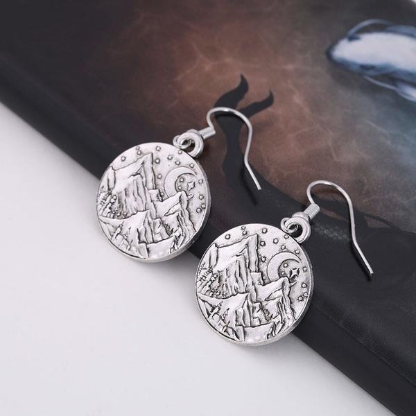 Mountain, pendantearring, Dangle Earring, Jewelry