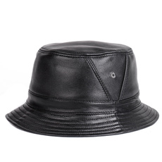 Winter Hat, genuine leather, shortbrim, Hip-Hop Hat