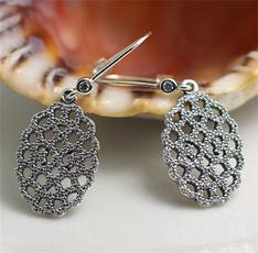 Sterling, Fashion, Lace, Pearl Earrings