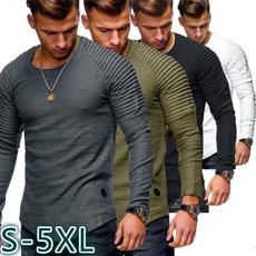 workouttshirt, Round neck, topsamptshirt, Cotton T Shirt