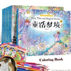 painting, drawingbook, secretgarden, coloringbook