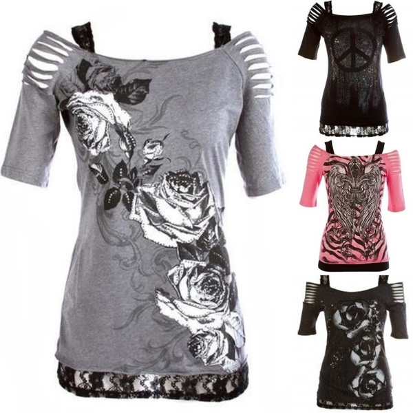 Summer, off shoulder top, Plus Size, Floral print